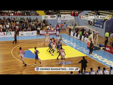Compacto Décimo Tercera Fecha Liga Nacional de Basquetbol - Osorno  vs. Club Deportivo Valdivia