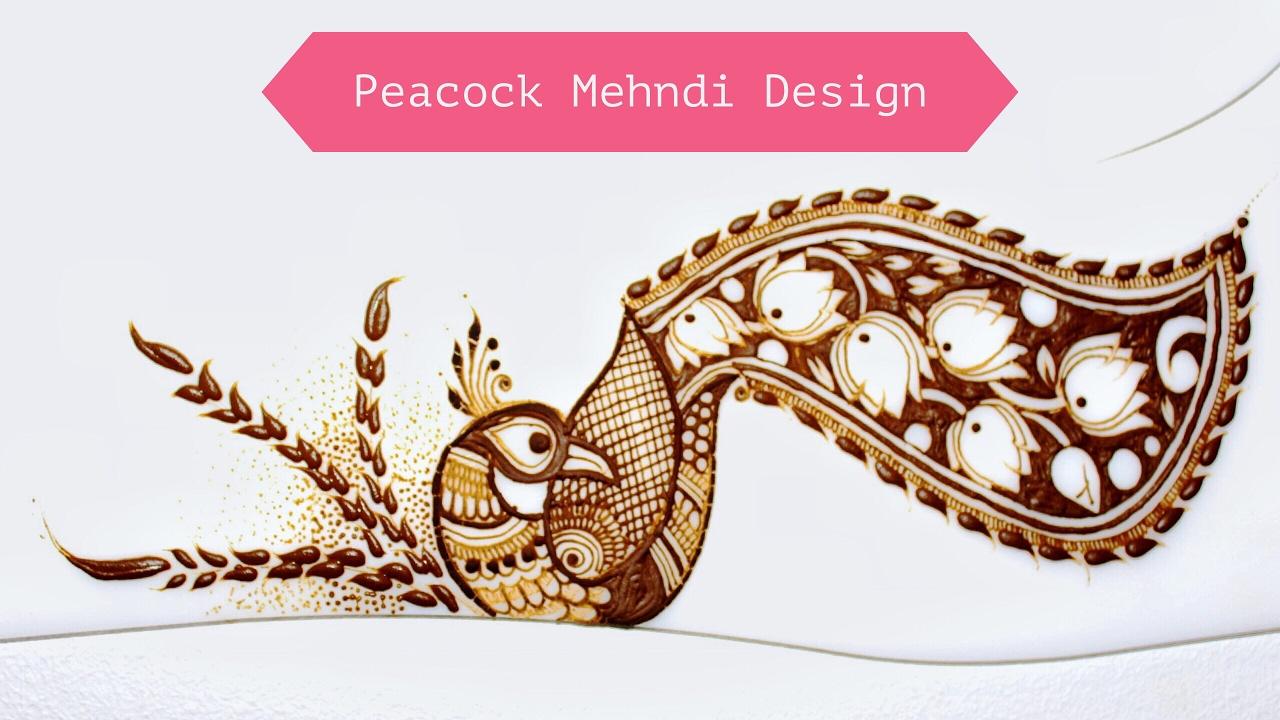 Mehndi design 2017 peacock - Peacock Mehndi Design Mehndi Tutorial 2017