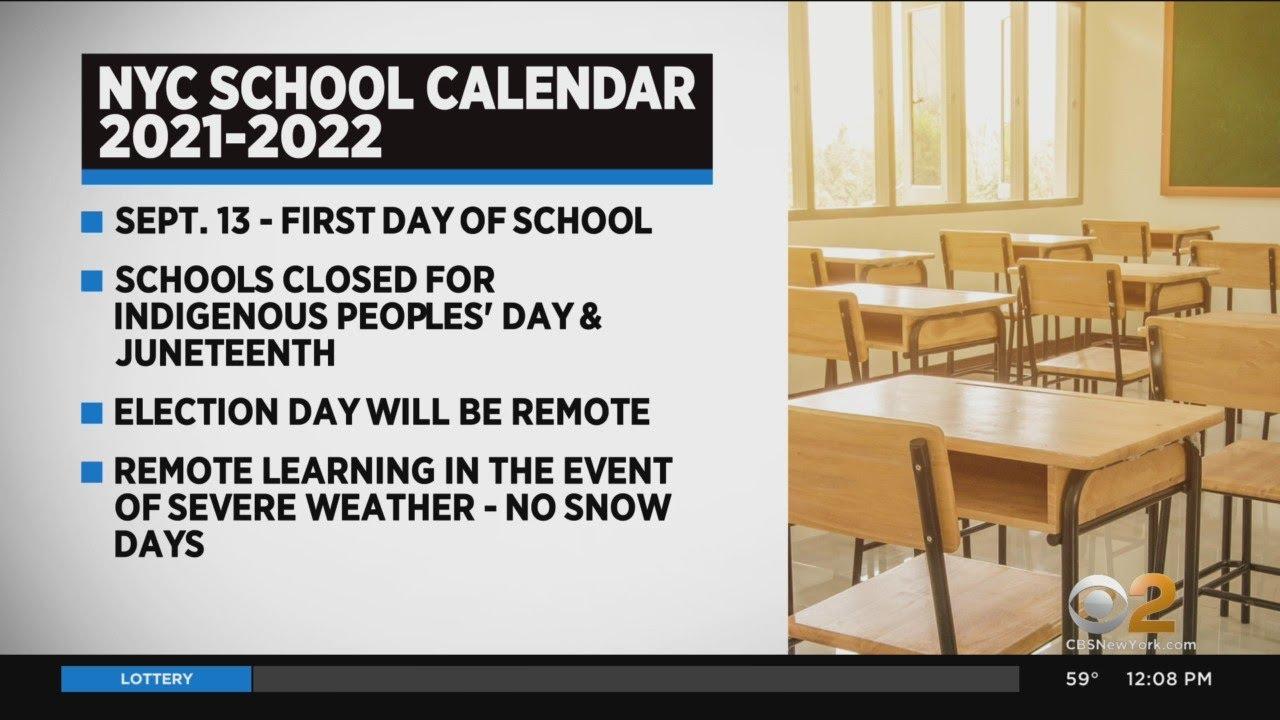 Nyc Schools Calendar 2022.Nyc Releases 2021 22 School Calendar Youtube