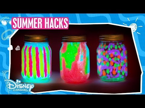 Summer Hacks | DIY Glow Lantern Tutorial | Official Disney Channel UK