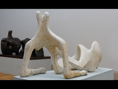 Describing what you see: Sculpture (Henry Moore, Reclining Figure)