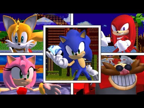 Sonic Duel - All Character's Final Smashes, Taunts And Victory Screens (Super Smash Bros Mods)
