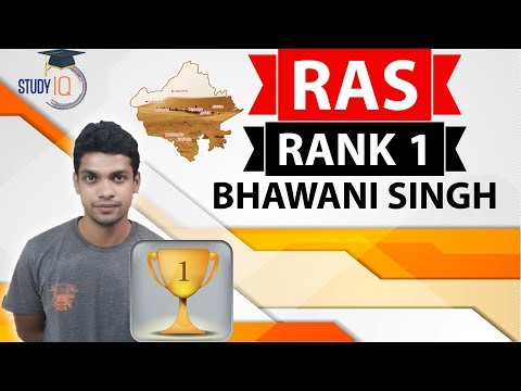 RAS Topper Interview Bhawani Singh Charan RANK 1 - Strategy for Rajasthan Administrative Services