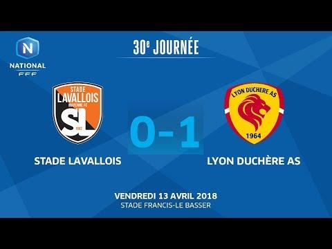 Vendredi 13/04/2018 à 19h45 - Stade Lavallois - Lyon Duchère AS - J30