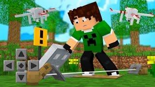 BASE SECRETA ?! - Minecraft de Férias #06 (Minecraft PE)