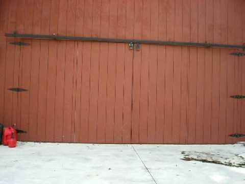 Bifold shop door.