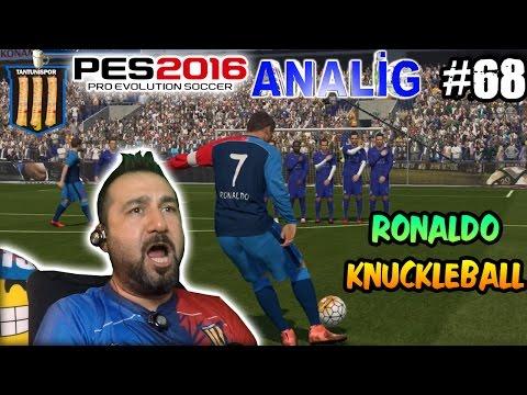tantunispor ile pes 2016 analig 68  ronaldo ölü yaprak gol