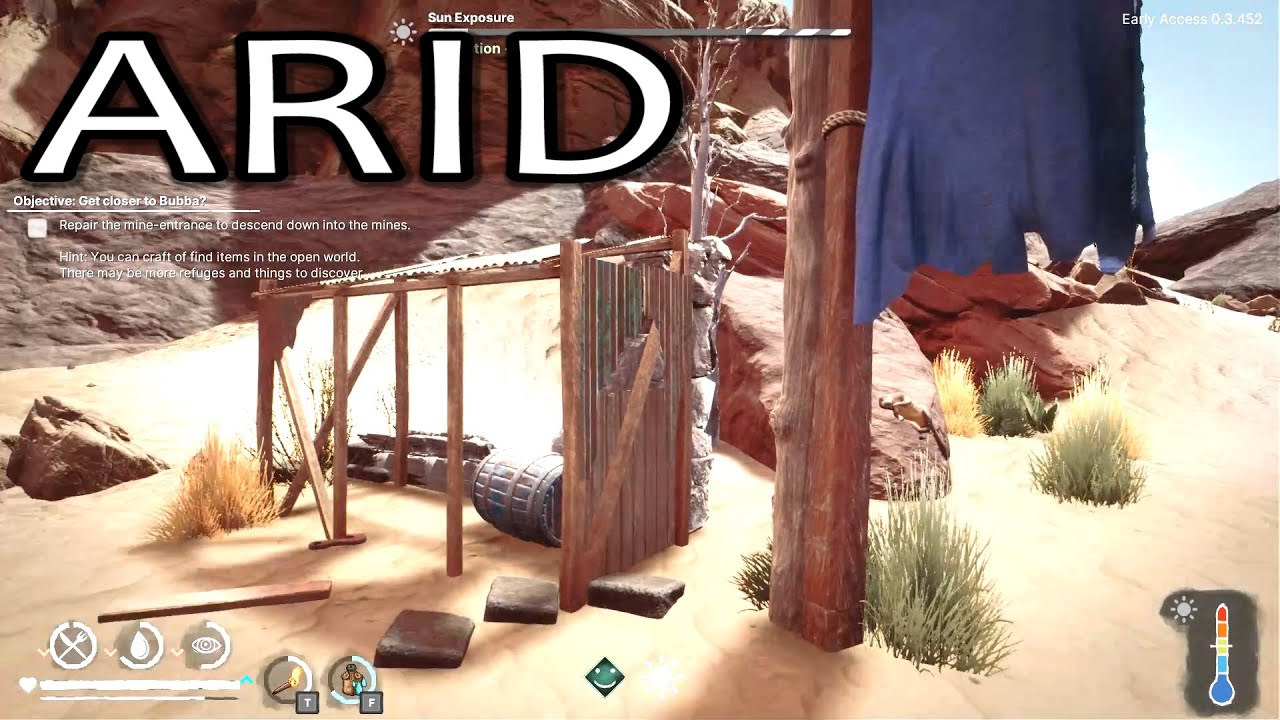 Desert Survival - Day 2 - Old Mining Camp (Arid Gameplay 2021)