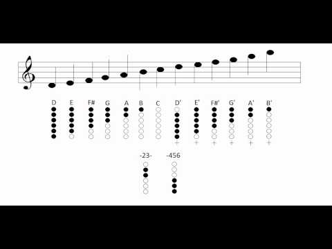 Tin whistle - Notes and fingering charts