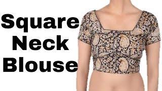 Square Neck Plane cut blouse | beautiful design | Easy process Cutting | Hindi