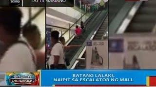 BP: Batang lalaki, naipit sa escalator ng mall