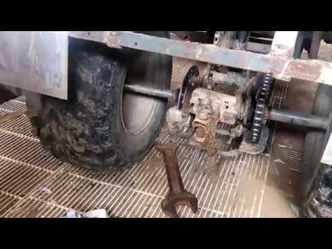 ремонт заднего моста на квадроцикле ирбис 150ю