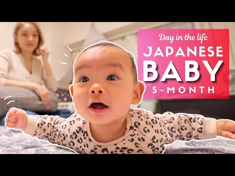 Day in the Life of a Japanese Baby 5-Month Old