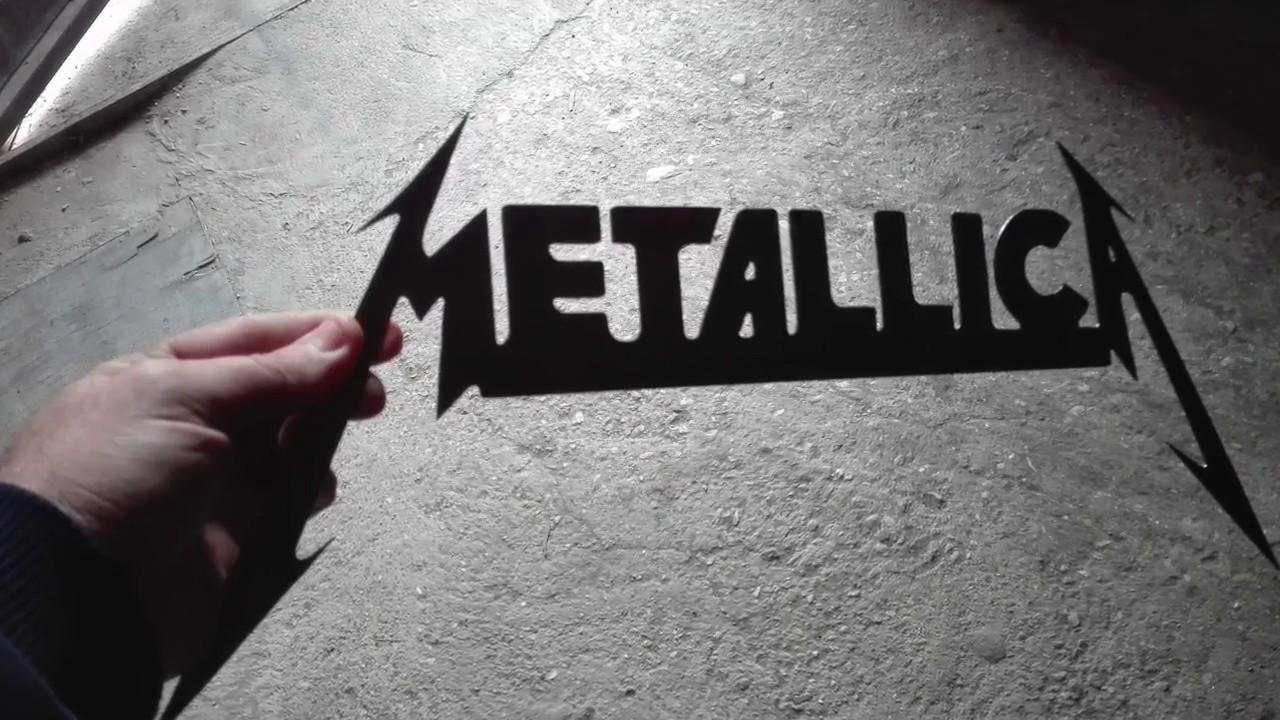Home Made Cnc Plasma Cut Metallica Logo Cutting Art