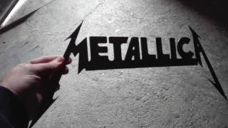 Home made CNC plasma cut Metallica logo  cutting art !!