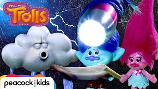 Trolls Save Their Party from Cloud Guy's Accidental Thunderstorm | TROLLS TOYMOTION