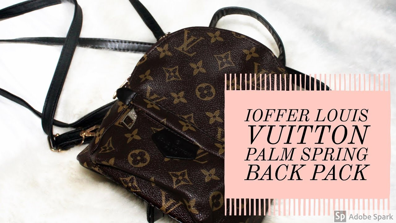 b961e5656aae Bougie on a Budget    30 Louis Vuitton Palm Springs Mini Backpack   IOFFER  DUPE   Is it WORTH it