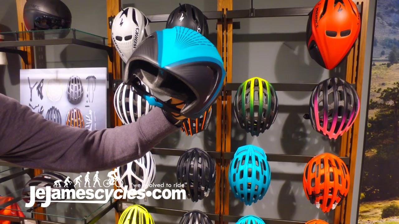 fd89b5c9005 Specialized S-Works Evade Road Bike Helmet Range 2018 - YouTube
