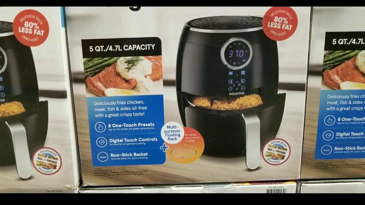Gourmia Digital Air Fryer 5 Qt.//4.7L Capacity
