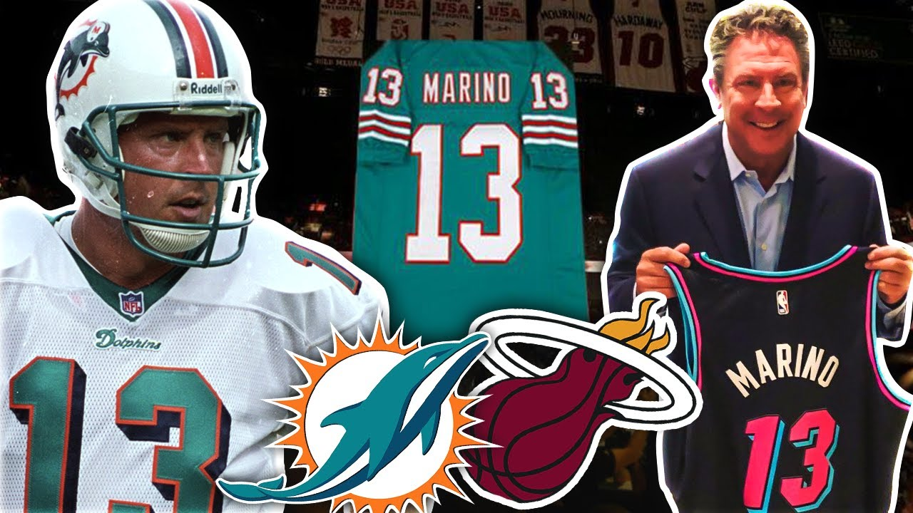 The Real Reason Nfl Legend Dan Marino S Jersey Is Retired By The Miami Heat Youtube