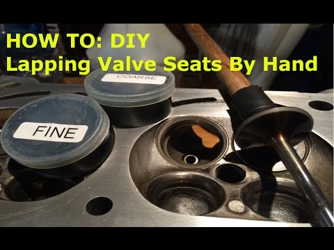 HOW TO: VALVE JOB! Lapping Seats By Hand The Easy Way ...