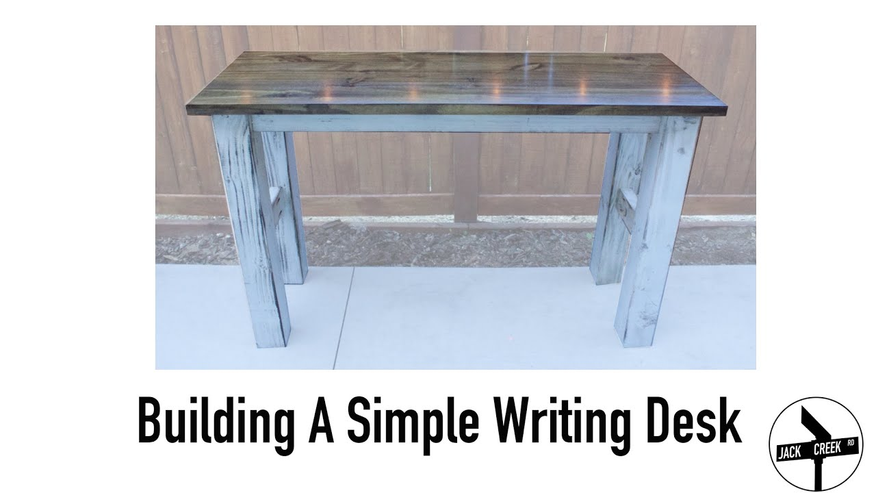 How To Build A Simple Desk With Limited Tools - YouTube