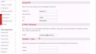 eRecht24 Impressum Generator Anleitung Mp3