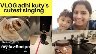 VLOG | what i packed for Husband's Lunch Box | Adhiran's cutest papa paadum paatu song