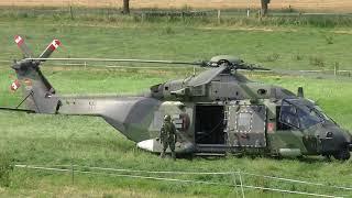Start Hubschrauber Bundeswehr NH90 & EC135 nach Außenlandung im Raum Einbeck / Vardeilsen
