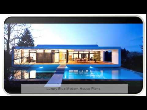 luxury blue modern house plans youtube