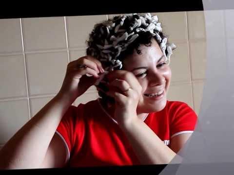 Capelli ricci afro con carta igienica