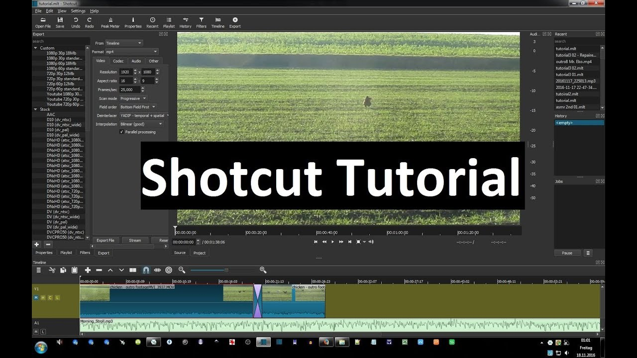 Shotcut - Tutorial part 21 - Keyframes