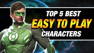 Injustice 2: Top 5 EASIEST Characters To Play!