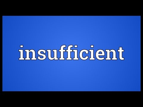 Insufficient Meaning