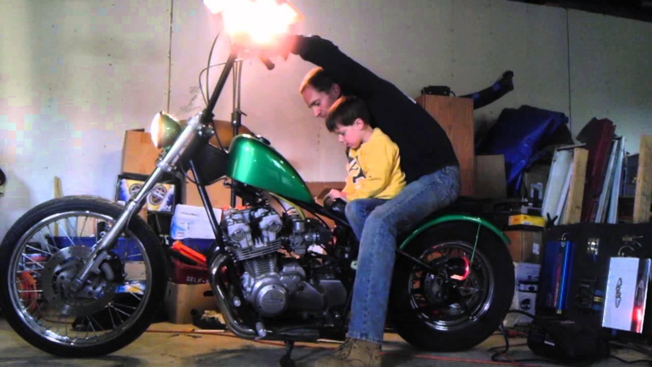 1979 Honda CB750 Chopper First Fire 2014