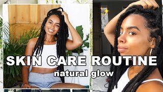 VEGAN SKIN CARE ROUTINE | ✨healing acne & getting the glow ✨