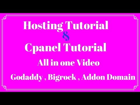 Hosting Tutorial.Addon Domain.Cpanel Manager