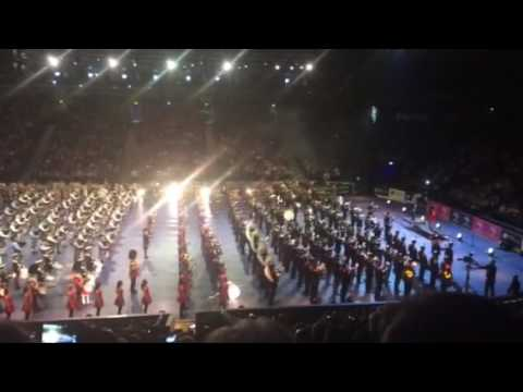 The Massed Pipes And Drums Play Highland Cathedral At Belfast Tattoo