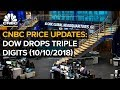 CNBC live price updates: Dow drops triple-digits — Wednesday, Oct. 10 2018
