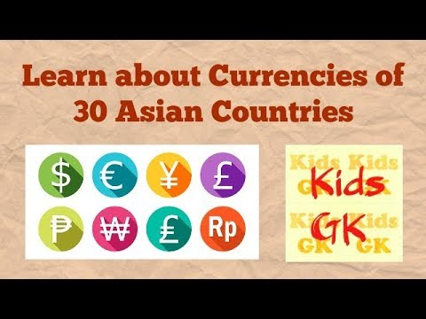 Learn Currencies of 30 Asian Countries | Countries Currency