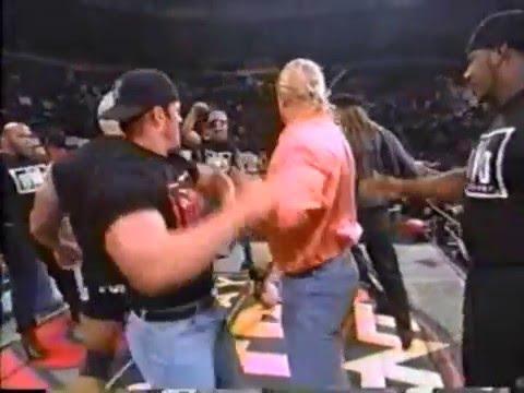 NWO attacks WCW  - Hulk Hogan, Scott Hall, Kevin Nash, and the others classic NWO beat down