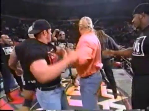Download Youtube: NWO attacks WCW  - Hulk Hogan, Scott Hall, Kevin Nash, and the others classic NWO beat down