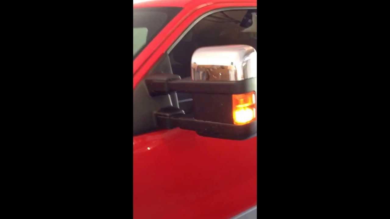 Ford F150 Xlt >> F150 XLT power fold tow mirror conversion - YouTube