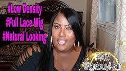 Low Density Full Lace Wig feat: Wigsbuy Hair