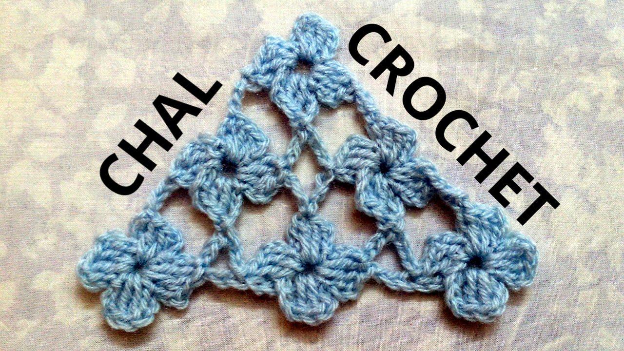 Como tejer un Chal en tejido crochet con Punto Margarita tutorial paso a paso.