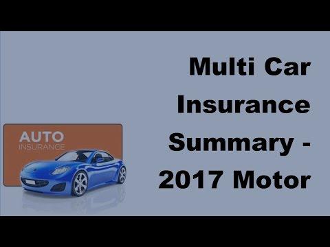Multi Car Insurance Summary –  2017 Motor Insurance Tips