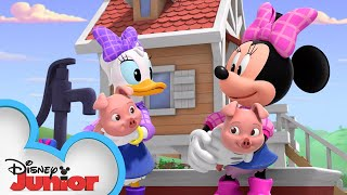 The Happy Helpers Farm Sit | Mickey Mornings | Mickey Mouse Roadster Racers | Disney Junior
