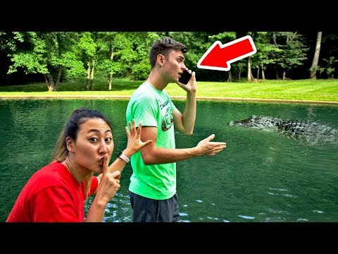 IPHONE IN POND PRANK (I PUSHED CARTER IN)