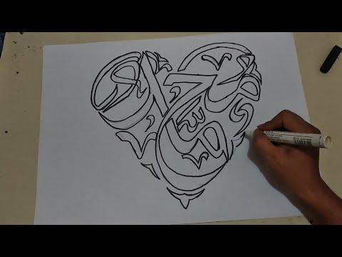 Kaligrafi Arab Islami Kaligrafi Love Allah