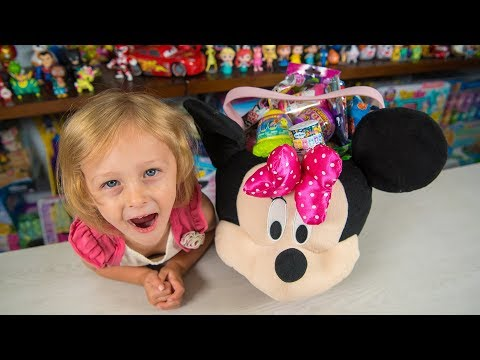 HUGE Minnie Mouse Surprise Bucket Eggs Blind Bags Surprise Egg Toys for Girls Kinder Playtime